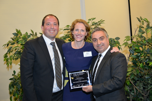 Marcello and Deirdre Diamante receive 'Small Business of the Year' award (Manningham City Council) from Stefan Kazakis